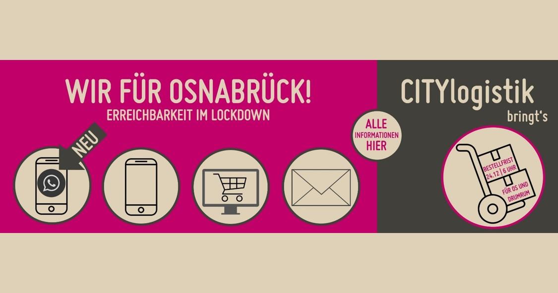 WIR für Osnabrück - Erreichbarkeit im Lockdown