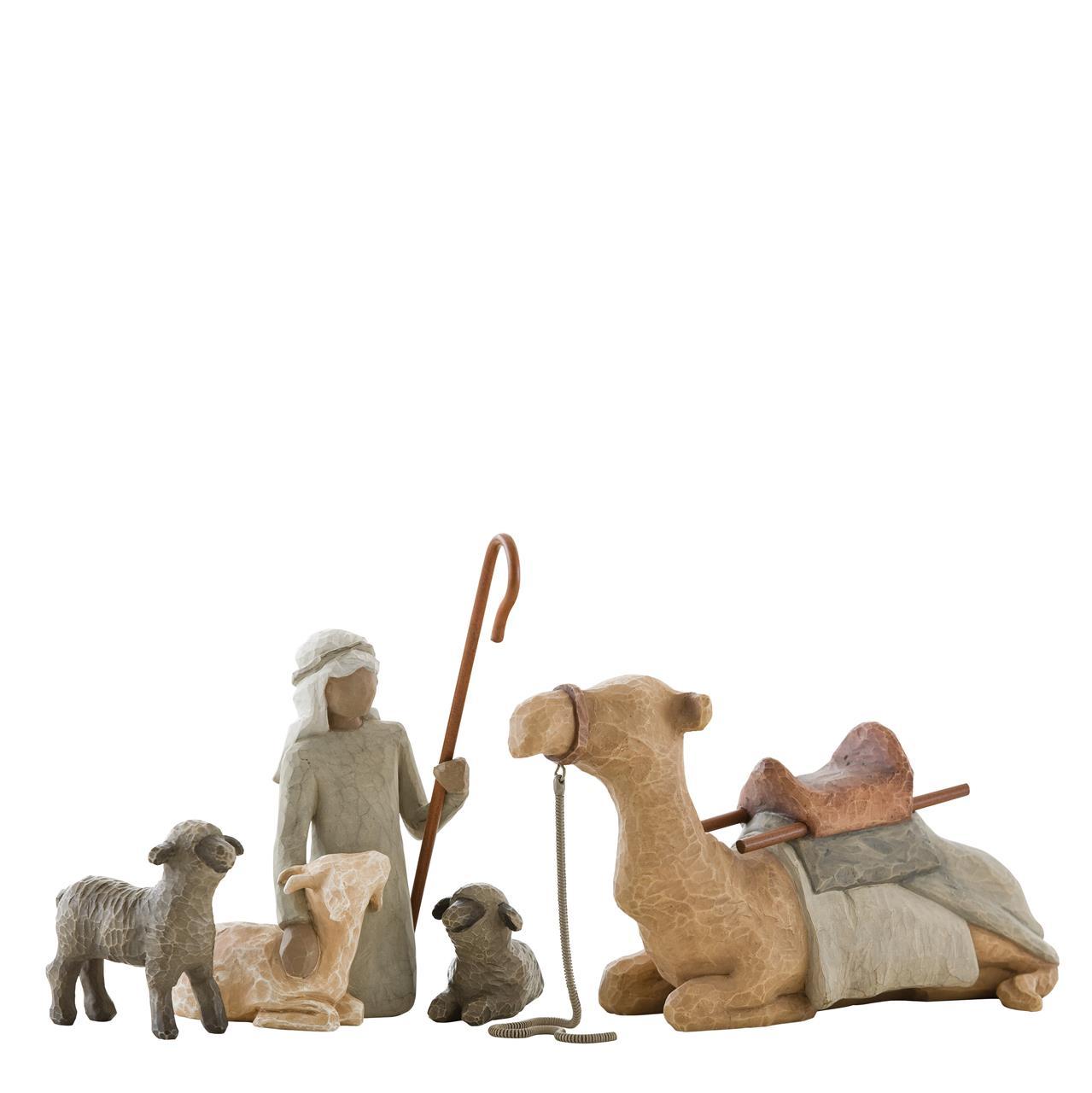 Willow Tree Krippe Hirte und Stalltiere mit Kamel Shephered and Stable Animals