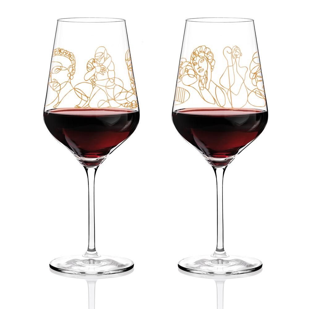 Rotweinglas neu